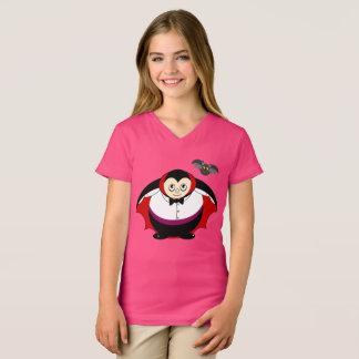 Camiseta Desenhos animados bonitos do divertimento de uma