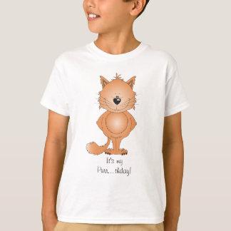 Camiseta Desenhos animados bonitos do gato