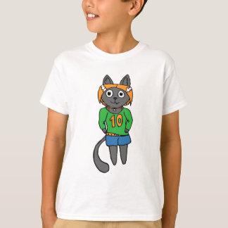 Camiseta Desenhos animados bonitos do gato na moda