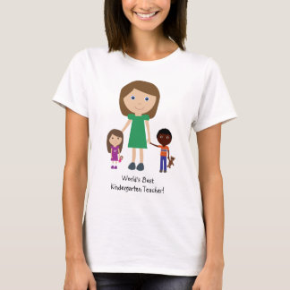 Camiseta Desenhos animados bonitos do professor de jardim
