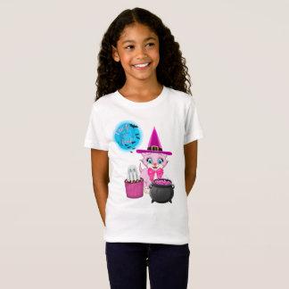 Camiseta Desenhos animados cor-de-rosa do Dia das Bruxas do