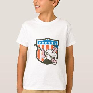 Camiseta Desenhos animados da bandeira dos EUA do