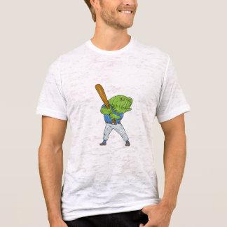 Camiseta Desenhos animados da batedura do jogador de