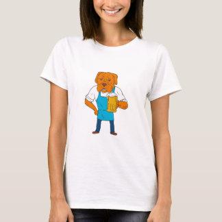 Camiseta Desenhos animados da mascote da caneca do