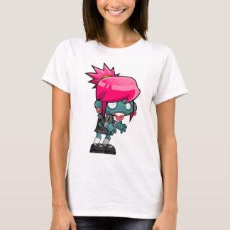 Camiseta Desenhos animados da menina do zombi