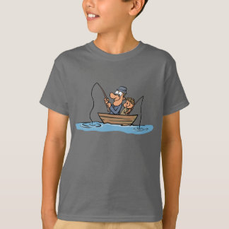 Camiseta Desenhos animados da pesca do pai e do filho