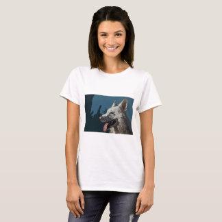 Camiseta Desenhos animados da versão do amante do cão (009)