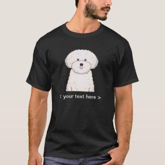 Camiseta Desenhos animados de Bichon Frise personalizados