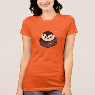 Camiseta Desenhos animados de Kawaii do creme e da brownie
