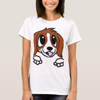 Camiseta desenhos animados de St Bernard que espreitam o