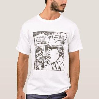 Camiseta desenhos animados do anormal do esquisito