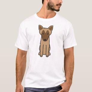 Camiseta Desenhos animados do cão de Malinois do belga