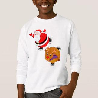 Camiseta Desenhos animados do divertimento do patinagem no