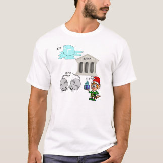 Camiseta Desenhos animados do duende dos ratos do banco do
