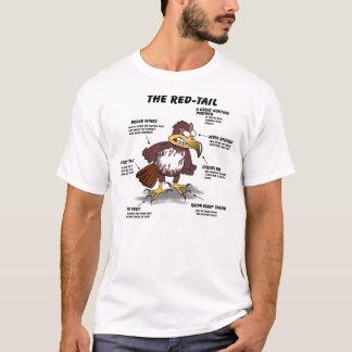 Camiseta desenhos animados do falcão da Vermelho-cauda