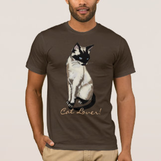Camiseta Desenhos animados do gato Siamese do divertimento