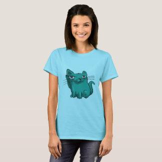 Camiseta desenhos animados doces do gato do gatinho da