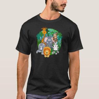 Camiseta Desenhos animados dos animais do safari