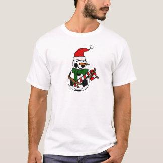 Camiseta Desenhos animados engraçados do Natal do boneco de