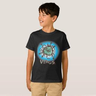 Camiseta desenhos animados engraçados do vírus feio