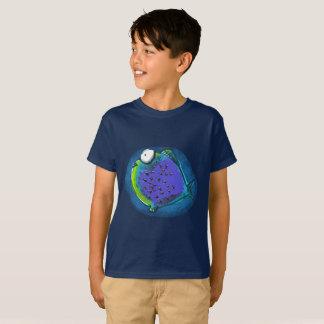 Camiseta desenhos animados engraçados dos peixes estranhos