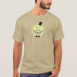 Camiseta Desenhos animados legal do pianista feliz