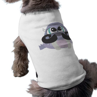 Camiseta desenhos animados parvos bonitos da morsa com bigo