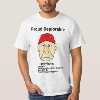 Camiseta Desenhos animados políticos deploráveis orgulhosos