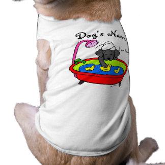 Camiseta Desenhos animados pretos dos patos de Labrador & d