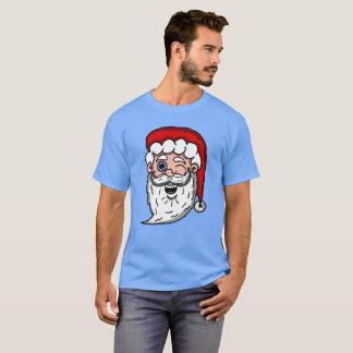 Camiseta Desenhos animados que pisc a cabeça do papai noel