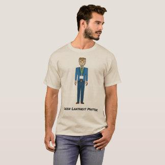 Camiseta Desenhos animados verdes da matéria das correias