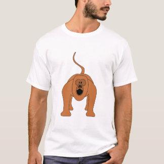 Camiseta Desenhos animados vermelhos do macaco de Howler