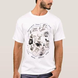 Camiseta desenhos dos animais selvagens do adirondack