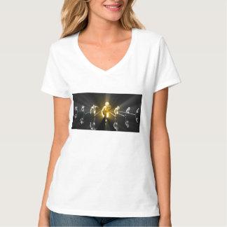 Camiseta Desenvolvimento de carreira com uma equipe do