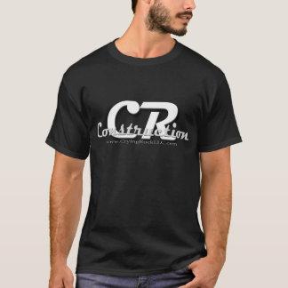 Camiseta Desgaste do logotipo da construção do CR