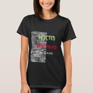 Camiseta Design 1: Aranha do cromo, design 2 Destro