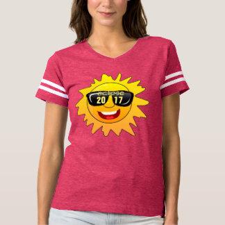 Camiseta design 2017 total do t-shirt do hipster do eclipse