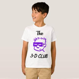 Camiseta Design 3-D do clube de Hanes dos miúdos