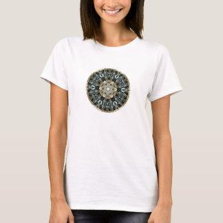 Camiseta Design abstrato do caleidoscópio no limão