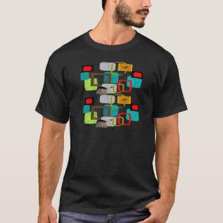 Camiseta Design abstrato inspirado atômico