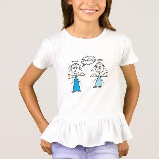 Camiseta Design adorável dos amigos do anjo da vara