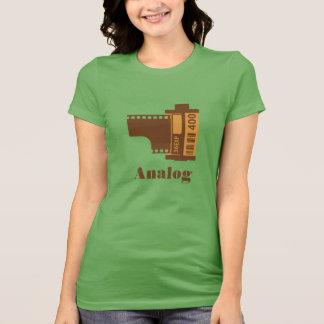 Camiseta design análogo do filme de 35mm personalizado