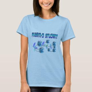 Camiseta Design azul das flores do estudante de Pharm D