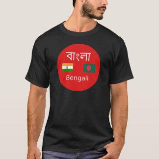 Camiseta Design bengali da língua