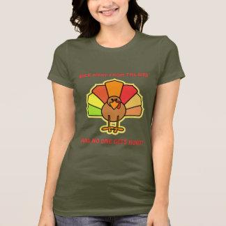Camiseta Design bonito da acção de graças dos desenhos