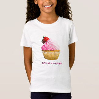 Camiseta Design bonito do cupcake