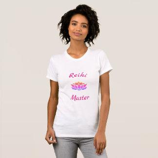 Camiseta Design bonito do mestre de Reiki da flor de Lotus