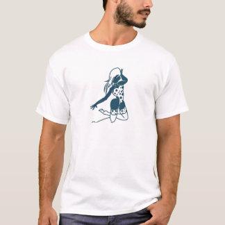 Camiseta Design bonito do retrato da senhora