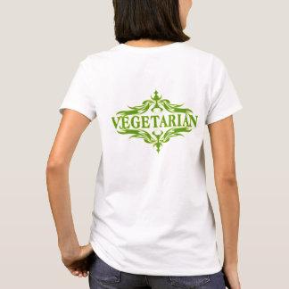Camiseta Design bonito para o vegetariano