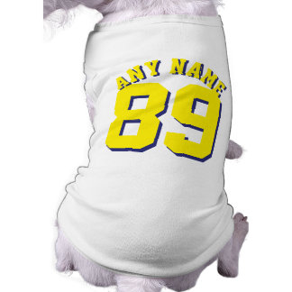 Camiseta Design branco & amarelo do jérsei dos esportes do